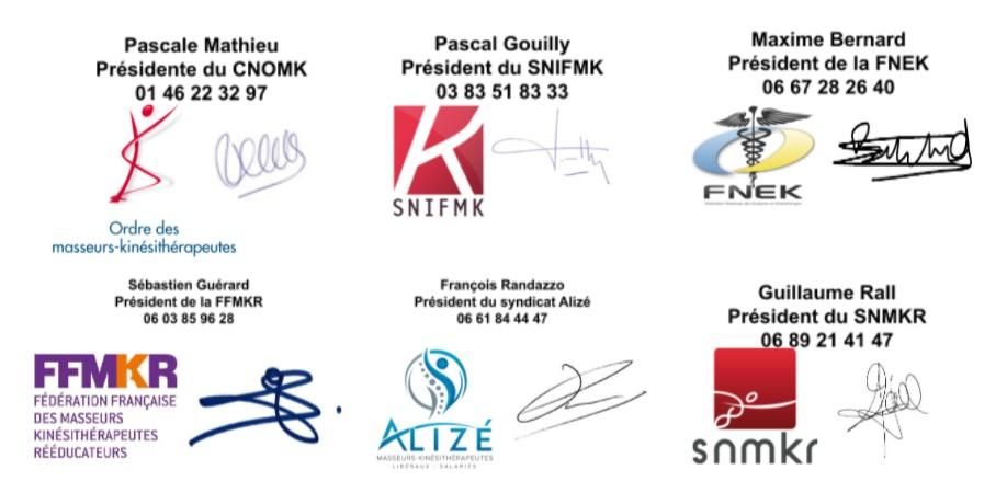 Ce communiqué de presse a été cosigné par le CNOMK, le SNIFMK, la FNEK, la FFMKR, Alizé et le SNMKR.